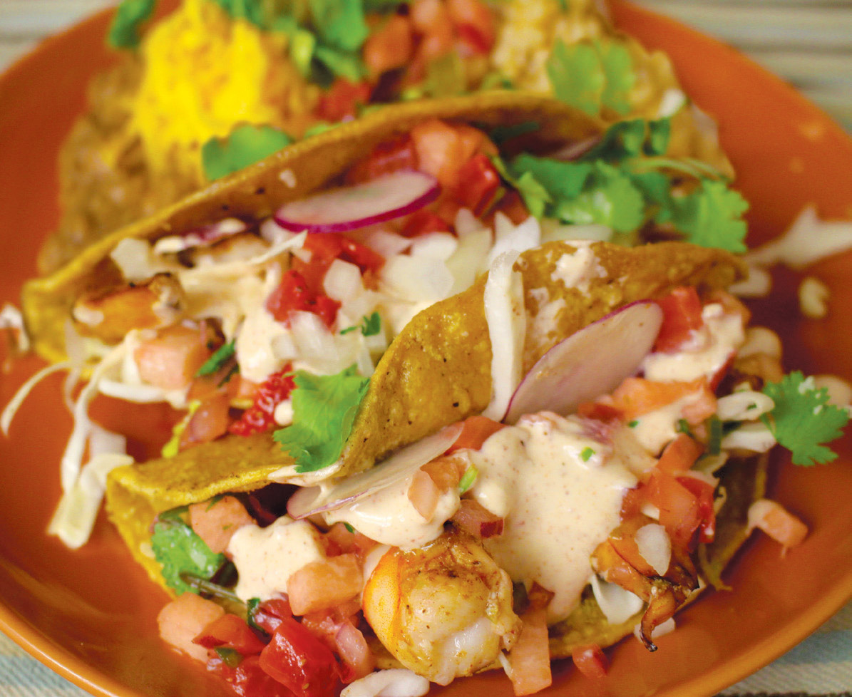 honorable mention savory strawberry shrimp tacos with strawberry