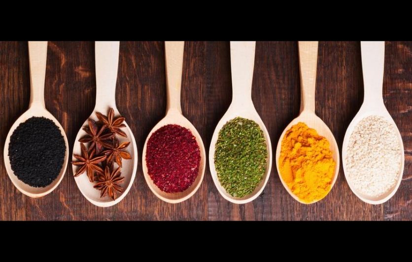 spices measured onto spoons