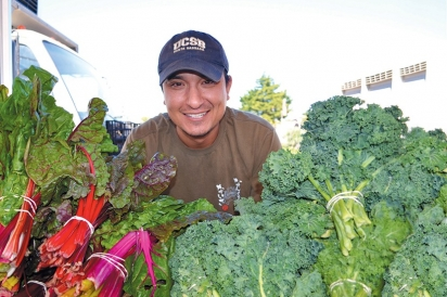Jason Tamai, of Tamai Family Farms, participates at several farmers' markets, including this one at Channel Islands Harbor.